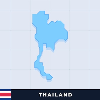 Modern map design of thailand
