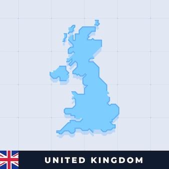 Modern map design of united kingdom