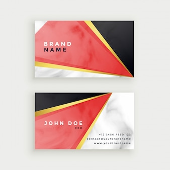Modern marble texture business card design