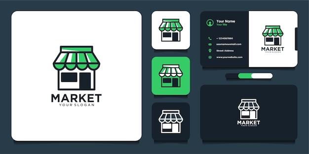 Modern market logo design and business card