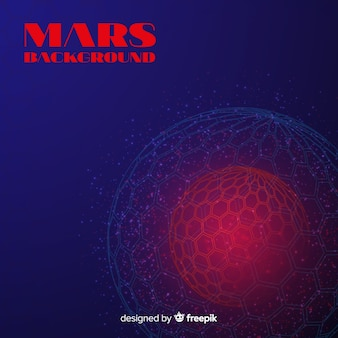Modern mars background with abstract design