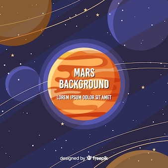 Modern mars background with flat design