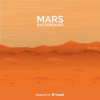 Modern mars background with realistic design