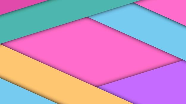 Современный дизайн материала фон из бумажных листов с тенями