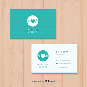 Modern medical business card concept