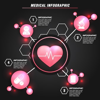 Modern medical info graphic template