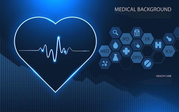 Современные медицинские технологии и концепция инноваций. шаблон здравоохранения медицинские инновации концепции фон дизайн. Premium векторы