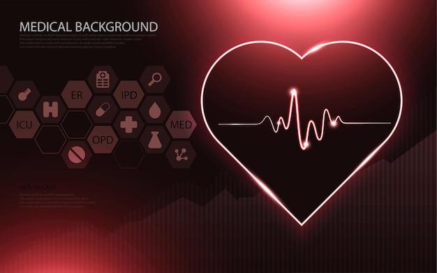Modern medical technology and innovation concept. health care pattern medical innovation concept background design.