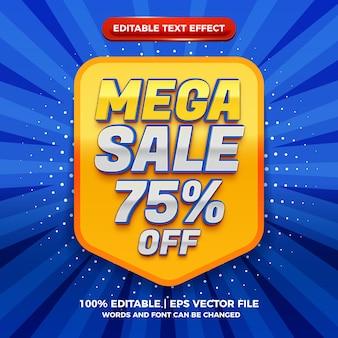 Modern mega sale 3d editable text effect