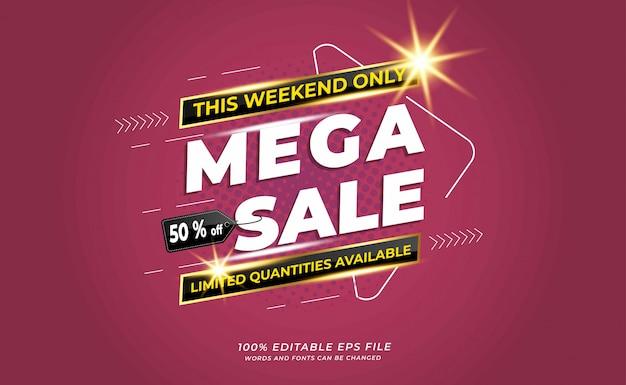 Modern  mega sale background