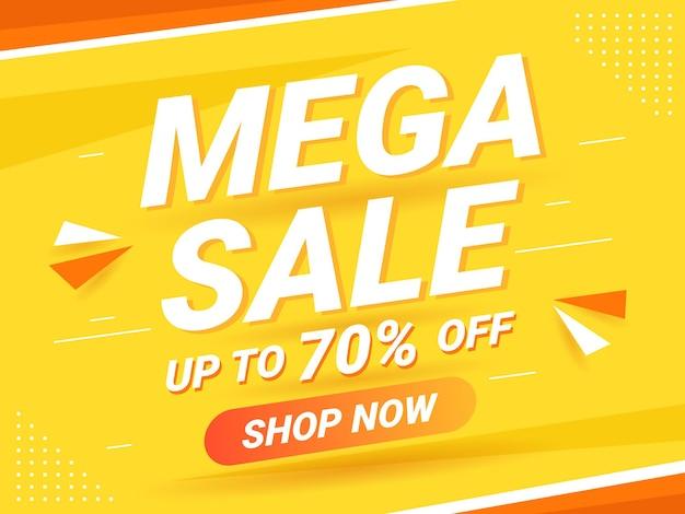 Modern mega sale banner or background