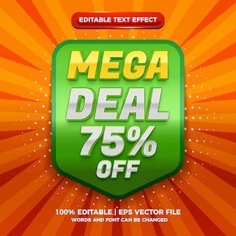 Modern megda deal 3d editable text effect