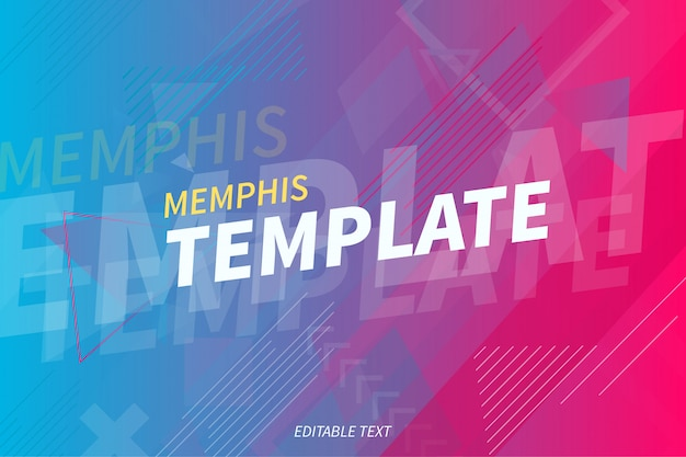 Modern memphis background template