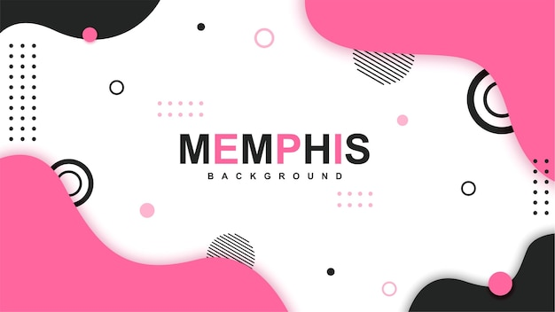 Modern memphis background with elements