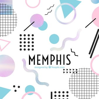 Modern memphis background
