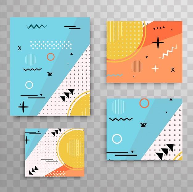 Modern memphis brochures