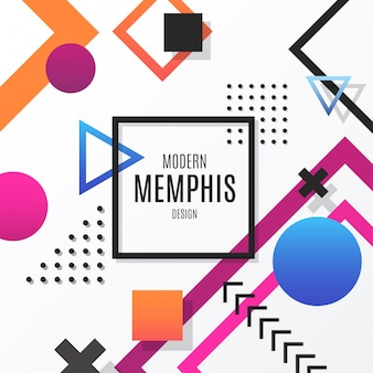 Modern memphis design background