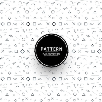 Modern memphis pattern background illustration