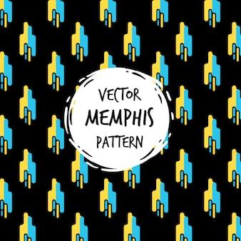 Modern memphis pattern background