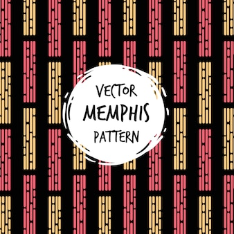 Modern memphis pattern background