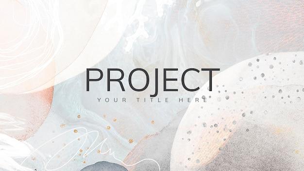 Modern memphis project presentation template wallpaper