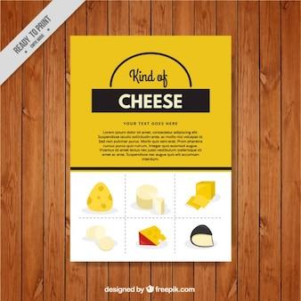 Menù moderno di formaggi