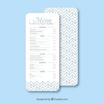 Modern menu template with geometry