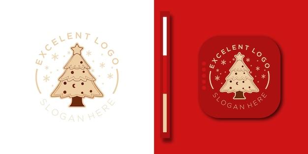 Современный веселый новогодний фон с современным дизайном логотипа