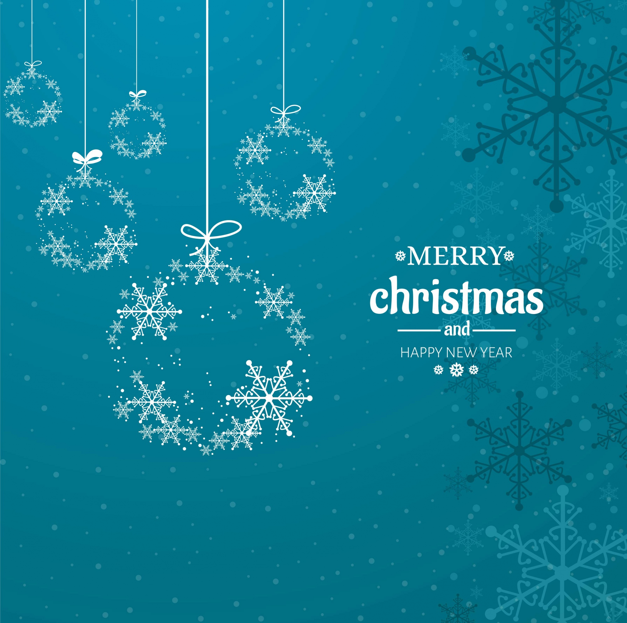 Modern merry christmas background