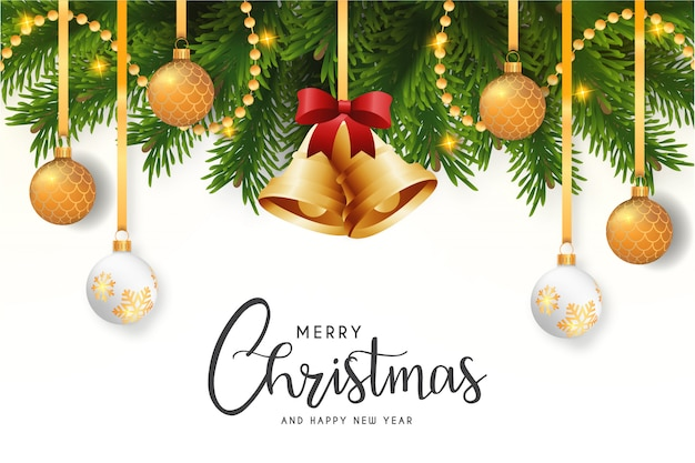 Modern merry christmas card with elegant background