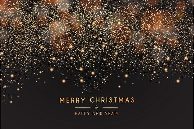 Modern merry christmas and happy new year background