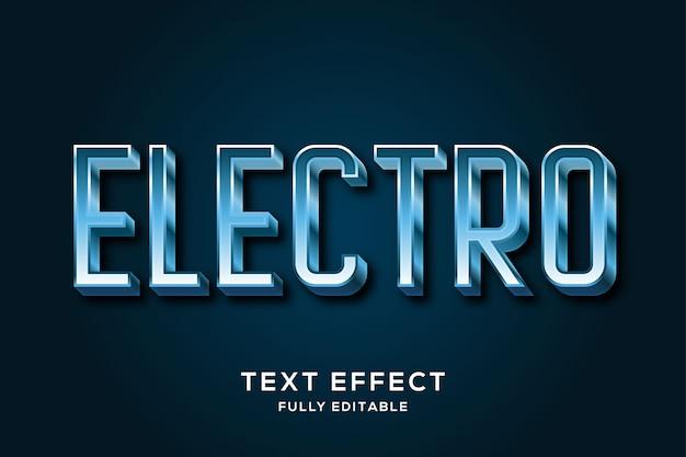 Современный металлический синий 3d эффект стиля текста