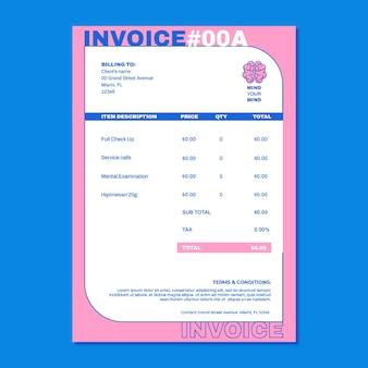 Modern mind your mind mental health invoice