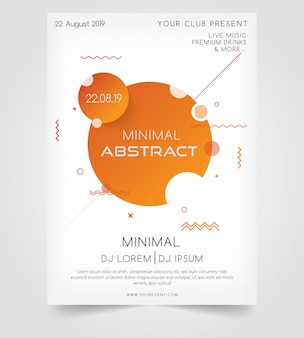 Modern minimal abstract party poster.