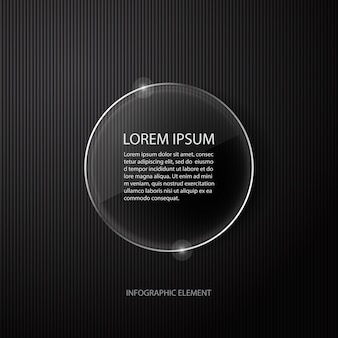 Modern minimal black infographics design element for business presentation.