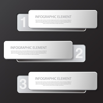 Modern minimal black infographics design element for business presentation.