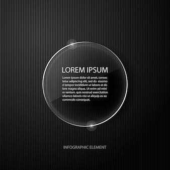 Современный минимальный черный инфографика элемент дизайна для бизнес-презентации.