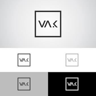 Современный минимальный шаблон логотипа