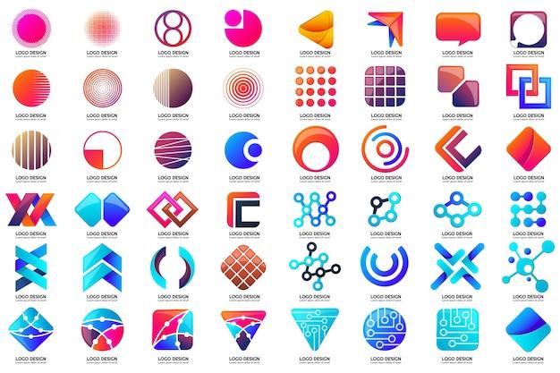 배너, 포스터, 전단지 현대 최소한의 벡터 로고