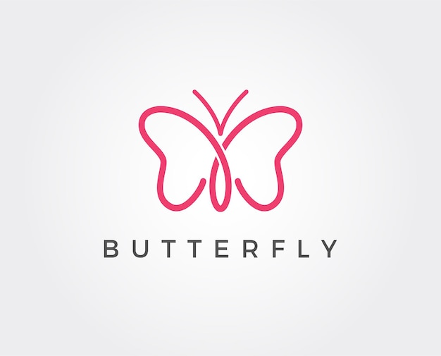 Modern minimalist butterfly logo for cosmetic symbol and any related business