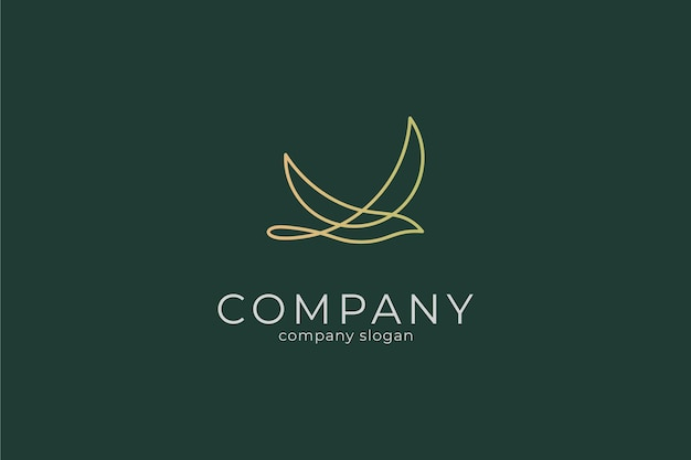 Modern minimalist elegant bird logo vector icon template