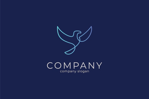 Modern minimalist elegant eagle vector icon logo template