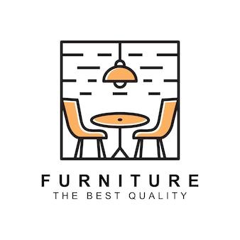 Современный минималистичный мебельный интерьер бизнес логотип компании