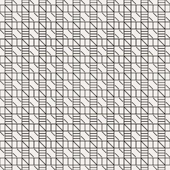 Modern minimalist geometric traditional seamless pattern