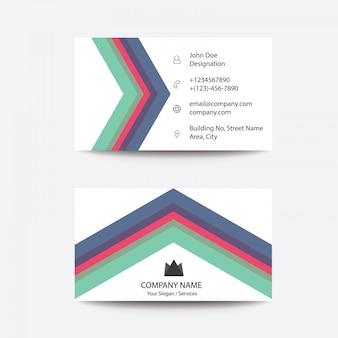Modern minimalist geometrical triangle business cards