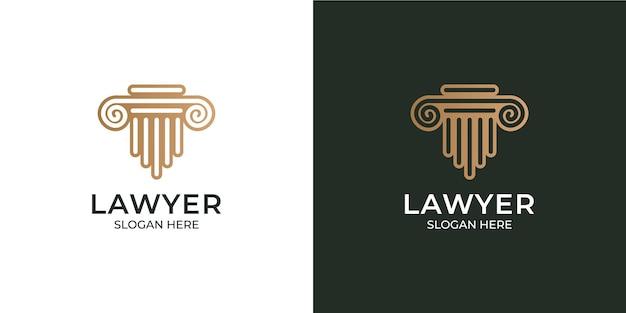 Набор логотипов современного минималистского юриста
