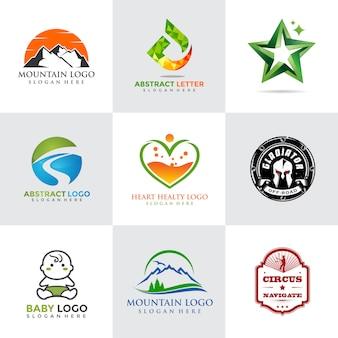 Modern and minimalist logo template