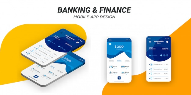 Modern minimalist mobile financing template.