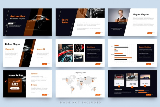 Modern minimalist presentation automotive template