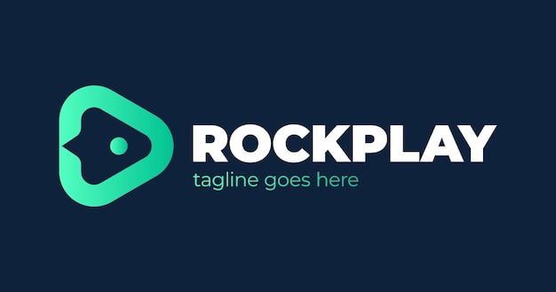 Современный минималистский шаблон значка логотипа ракетной игры. творческий минимальный шаблон дизайна.